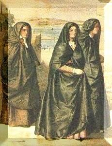 According to local legend, the għonnella was first introduced to Malta in 1224 C.E. as a sign of mourning by the women of Celano in the Abruzzi region of Italy, who were said to have been expelled – first to Sicily, and then to Malta