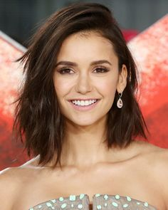 The Best Celebrity Lob Haircutsof 2017 - Nina Dobrev from InStyle.com