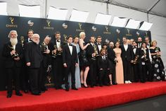 Emmys 2016: 5 Backstage Things You Didn't See   Emmy winners get a brief 45 seconds to deliver speeches onstage but they get a little bit more time to say what they want to say (or not) in the backstage press room afterward. Not every winner shows up to the press room and certainly not everyone turned up during Sunday's Emmy Awards. But here's  ... Read More >  Other Links From TVGuide.com  68th Primetime Emmy Awards  Rami Malek  Mr. Robot  Game of Thrones  Patton Oswalt  Donald Trump…