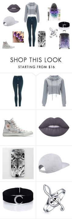 """20"" by pirigoticafofis on Polyvore featuring moda, Topshop, Converse, Lime Crime, adidas, Bling Jewelry e Heys"