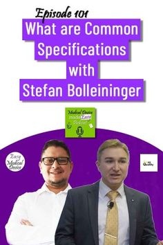 Common Specifications are a type of regulation that we will explain to you in this episode with Stefan Bolleininger. The one on Reusable single use device was published. We expect more to come. The post What are Common Specifications under EU MDR & IVDR? appeared first on Medical Device made Easy Podcast. Make It Simple, Medical, Marketing, Type, Learning, Memes, Self, Medical Doctor, Med School