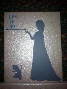 Frozen Elsa canvas Disney Princess canvas craft