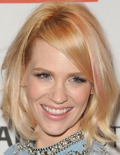 January Jones Mid-Length Bob - Mid-Length Bob Lookbook - StyleBistro