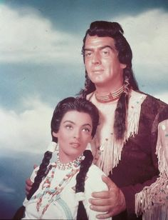 """Suzan Ball & Victor Mature in """" Chief Crazy Horse ..."""