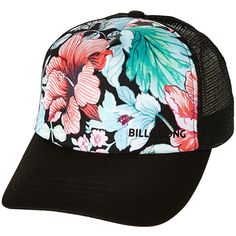 Billabong Break Free Trucker Cap ( 20) ❤ liked on Polyvore featuring  accessories cc9a3405d2ef