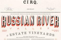 Cirq Really like the mixed type here. 1940's Typography via smashingmagazine.com