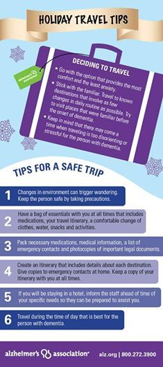 6 Holiday Travel Tips #Alzheimer's #Caregiving