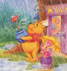 Winnie The Pooh Hello April Quote Tigger And Pooh, Winne The Pooh, Cute Winnie The Pooh, Winnie The Pooh Quotes, Winnie The Pooh Friends, Pooh Bear, Eeyore, Walt Disney, Cute Disney