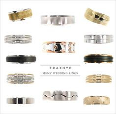 Men's wedding rings from Traxnyc