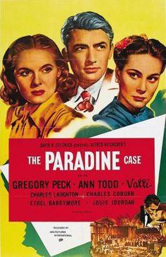 El proceso Paradine 1947. Alfred Hitchcock.