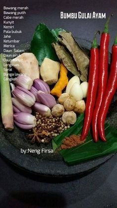 Cooking Ingredients, Cooking Recipes, Indian Food Recipes, Asian Recipes, Malay Food, Indonesian Cuisine, Malaysian Food, Asian Cooking, Creative Food