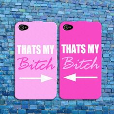 Funny Bff Best Friend Pink Cute iPhone Case Cell Phone Cover