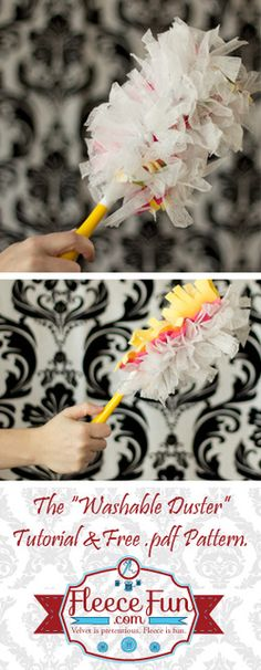 You can make a duster that is washable and recycles old dryer sheets.  Free .pdf pattern and instructionsl.  Easy DIY!