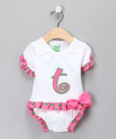 Love this White 'T' Skirted Bodysuit - Infant on #zulily! #zulilyfinds