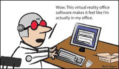 Cartoon over Virtual Reality