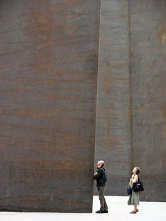 "Richard Serra.   ""Promenade"". Monumenta 2008, Grand Palais, Paris."