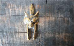 Large Fox Door Knocker // Solid Brass by buffalowinter on Etsy, $56.00