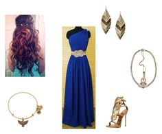 Ravenclaw Yule Ball by saaaamgames on Polyvore featuring polyvore, fashion, style, Giuseppe Zanotti, Robert Rose, Alex and Ani and Jennifer Behr