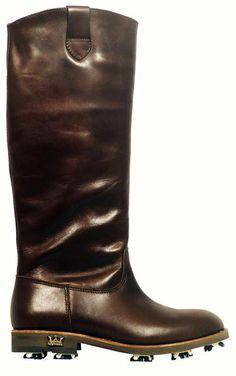 Lambda Golf Boots ~ Wow, theses are pretty ridiculous! Golf Fashion, Sport Fashion, Fashion Shoes, Womens Golf Wear, Womens Golf Shoes, Girls Golf, Ladies Golf, Women Golf, Golf Attire