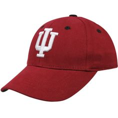 36fa312758d adidas Indiana Hoosiers Crimson On-Field Performance Fitted Hat ...
