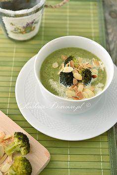 Zupa krem z brokułów Cheeseburger Chowder, Cheddar, Food And Drink, Pudding, Cooking, Desserts, Cos, Diet, Kitchen
