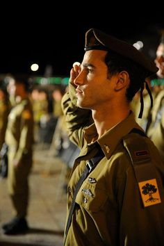 Golani officer saluting the flag and his country. Shabbat Shalom to our readers at home and to the IDF soldiers protecting their country on this cold winter day. March, 16th 2012