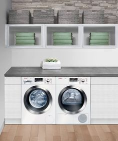 Bosch's Axxis Plus pair can wash and dry a load of laundry in just 30 minutes. How do you simplify laundry day? http://www.KNSales.com/kitchen-appliances/?term=96