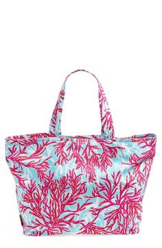 Lilly Pulitzer Print Canvas Beach Tote Available At Nordstrom