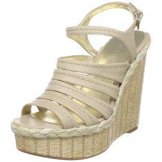 Nine West Women's Befriend Wedge Sandal * Additional details at the pin image, click it  : Platform sandals