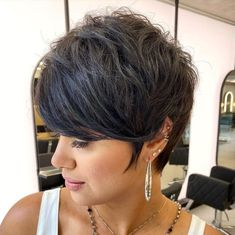 Modern Feathered Pixie with Bangs Pixie Haircut For Thick Hair, Wedge Hairstyles, Short Hairstyles For Thick Hair, Modern Hairstyles, Pixie Hairstyles, Summer Hairstyles, Short Hair Cuts, Short Hair Styles, Pixie Haircuts