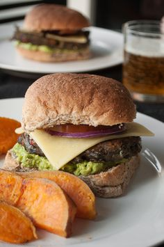 Black Bean Veggie Burger. I have no idea how these hold together, as there's not flour or grain, but I'll give it a try.