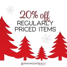 Take 20% Off Regularly Priced Items and 25% Off Holiday Items and for our #BlackFriday #SuperSaturday and #CyberMonday Sale at #ParamountBeauty! We're also offering incredible savings with our Secret Santa Insider Sale!
