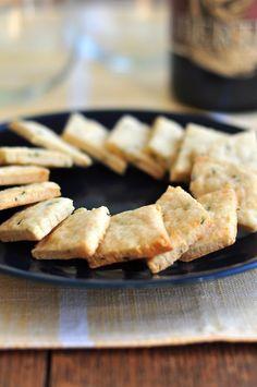 Rosemary goat cheese cracker