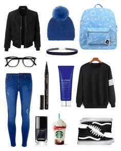 """""""black sweatshirt"""" by anafilipafonseca2004 on Polyvore featuring Dorothy Perkins, Vans, LE3NO, Forever 21, Elemis, Smith & Cult, Humble Chic and Kyi Kyi"""