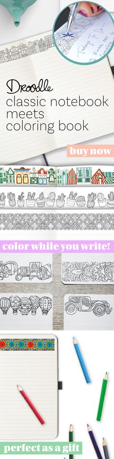 I'm not your average notebook. I provide the inspiration you need to stay focused, boost ingenuity, and even reduce stress. Check out all my coloring designs and unique features.