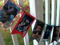 1st birthday PHOTO banner by cakeplatesandfedoras on Etsy, $30.00