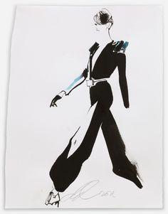 David Downton - Stephane Rolland/Paris Couture July 2011