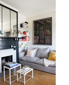 I love small spaces with style and always with book shelves. Room without a bookshelf is a naked-meaningless room for me