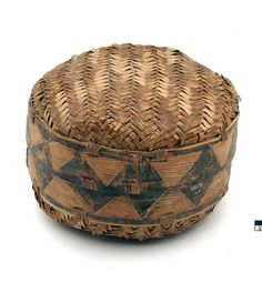 Africa | Container from the Chopi people of the Manjacaze region of Mozambique | Vegetable fiber and tree bark | 20th century