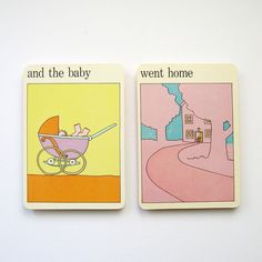 The Baby Went Home  Vintage MOMA Art Cards  Nursery by LastCentury