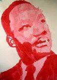 Artsonia Art Exhibit :: Dr. MLK Jr. - monochromatic painting