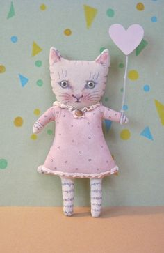 cat art doll by sandy mastroni [ etsy ]