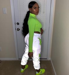 Best Baddie Outfits Part 5 Neon Outfits, Hipster Outfits, Swag Outfits, Trendy Outfits, Fall Outfits, Summer Outfits, Party Outfits, Black Girl Fashion, Look Fashion