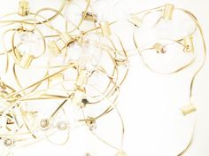 Bright & Bold - DIY Gold Christmas String Lights