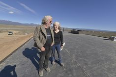 "Michael Reynolds & Donna Vessey, filming for an episode on Earthships for ""Hittin' the Road"""