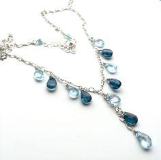 London & Sky Blue Topaz Necklace