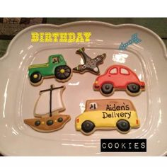 Transportation cookies ~birthday party