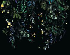 Spižirna 1902 - Wallpaper design on Behance Wild Forest, Designer Wallpaper, Watercolor Illustration, Plant Leaves, Profile Wallpaper, Flora, How Are You Feeling, Behance, Photoshop