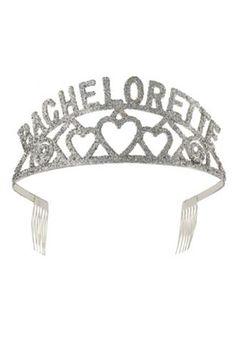 89adf82d128 Bachelorette Glitter Tiara Bachelorette Party Supplies