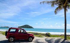 Jeep am Strand von St. Lucia © David Gochfeld